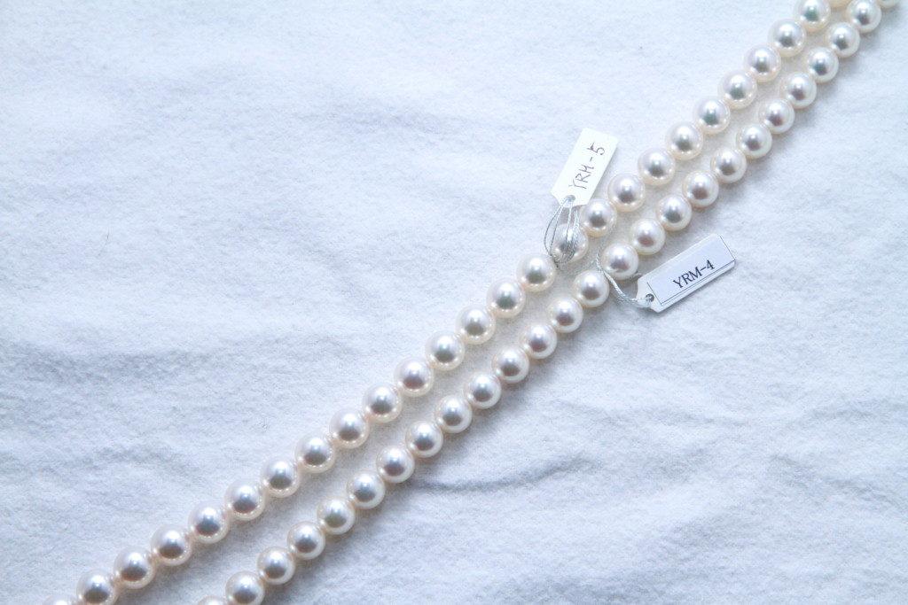 あこや真珠7.5と8比較