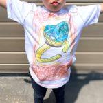 世界で一つのほうせき、ぬってみた!!/ジュエリーほうせき塗り絵Tシャツ作成事例