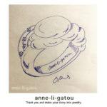 inktober2020-day28/「浮かぶ」をテーマにしたジュエリーデザイン